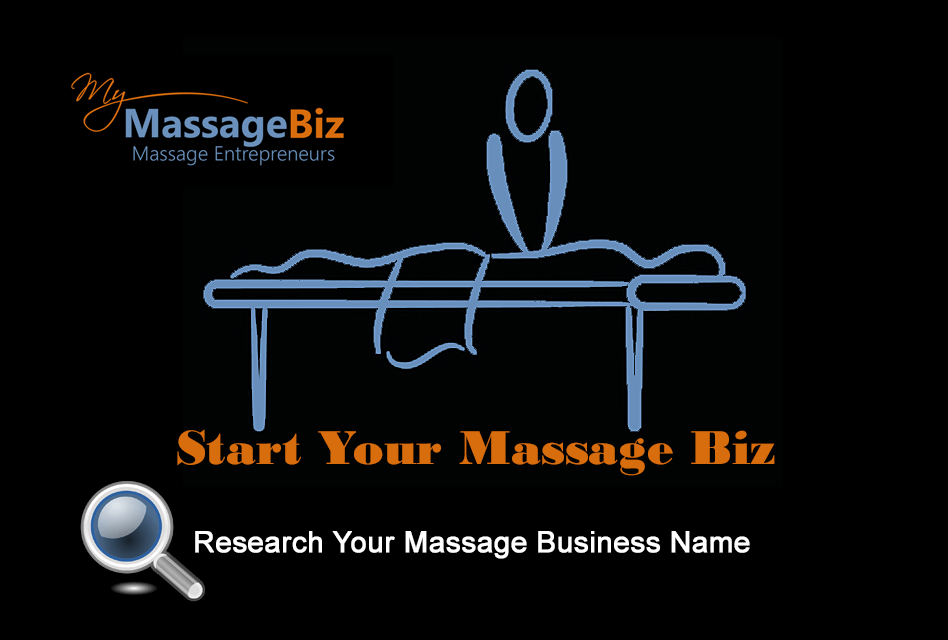 Research the name you will use for your massage business domain