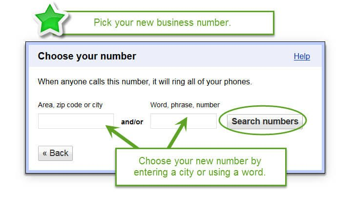 Set Up Google Voice For Your Massage Business Choose your number