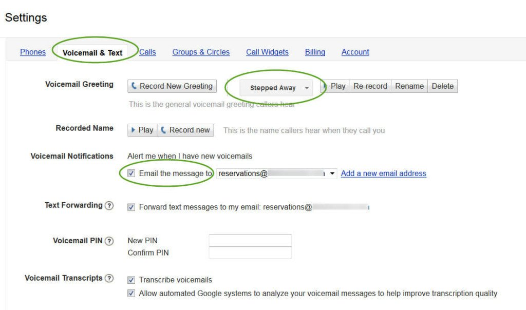 Set Up Google Voice For Your Massage Business: Voicemail and text