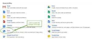 Set Up Google Voice For Your Massage Business: Click to open Google Voice