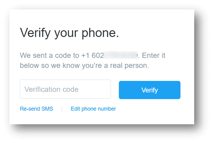 Massage Social Media Accounts: Twitter Verify Your Phone