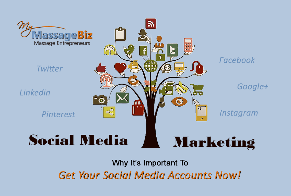 Massage Social Media Accounts