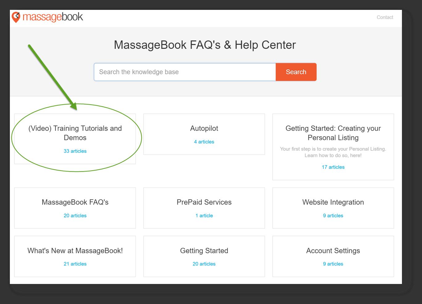 Best Massage Business Tools: MassageBook has great support.