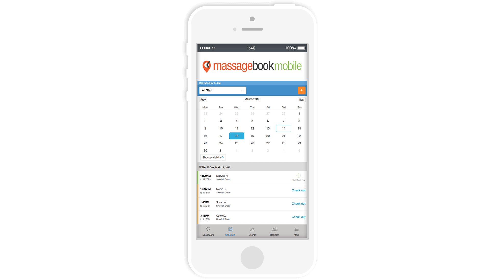 Best Massage Business Tools: MassageBook allows you to manage your business on the go.