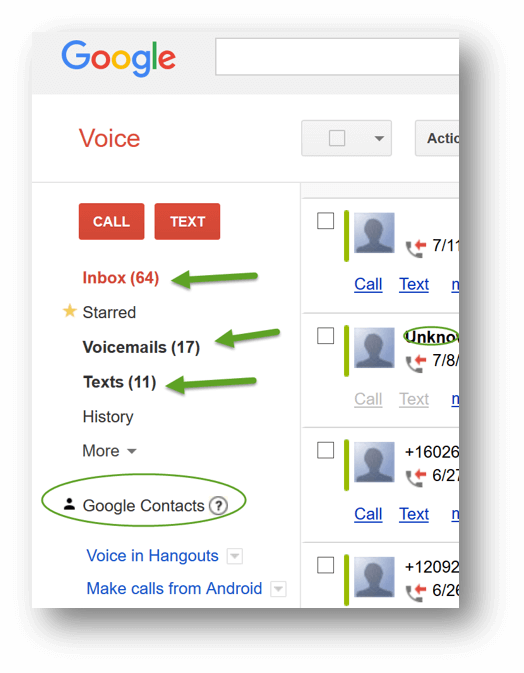 Best Massage Business Tools: Google Voice- Client numbers stored
