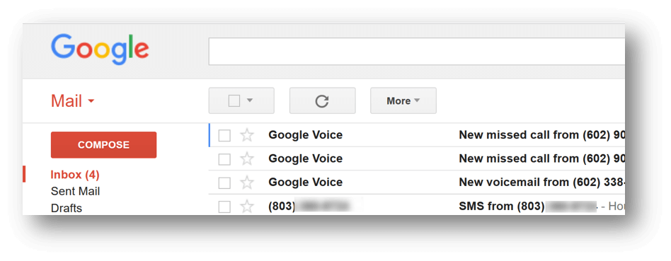 Best Massage Business Tools: Google Voice- Keep track of missed calls