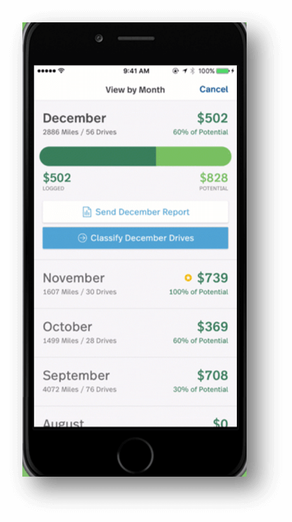 Best Massage Business Tools: MileIQ lets you see what your miles are worth.