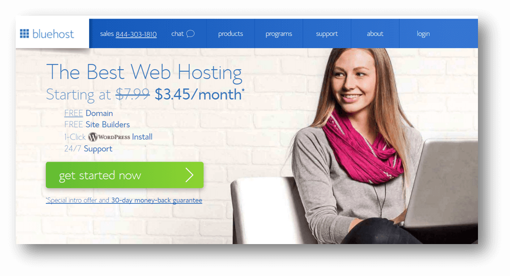 Best Massage Business Tools: Bluehost Signup