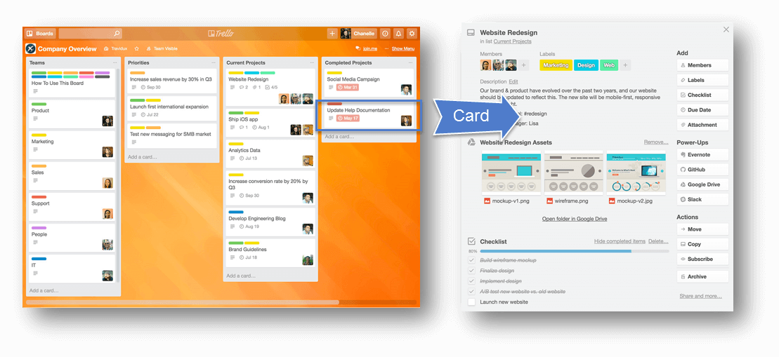 Best Massage Business Tools: Trello cards gives you a place to store everything your need.