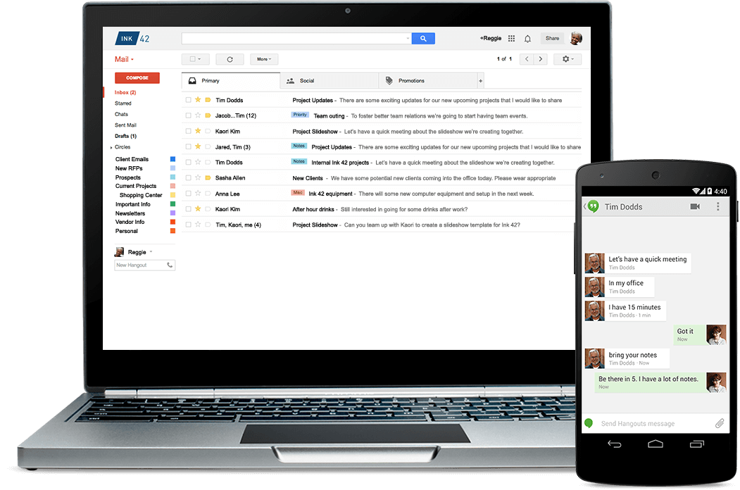 Best Massage Business Tools: G Suite gives you G-Mail for your business.