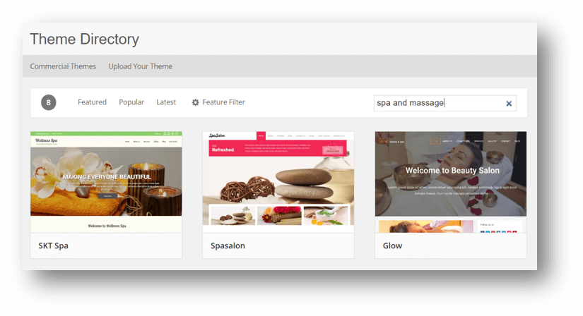 Best Massage Business Tools: WordPress has thousands of pre-designed themes.